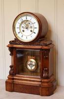 Mid Victorian Drumhead Visible Escapement Mantel Clock (2 of 11)