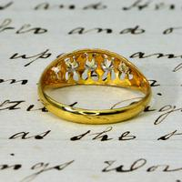 The Antique Edwardian Five Diamond Claw Set Ring (4 of 4)