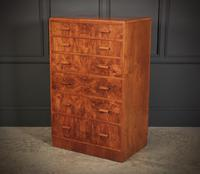 Art Deco Figured Walnut Chest by Maple & Co. (6 of 13)