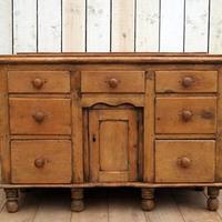 19th Century Pine Dresser Base (4 of 14)