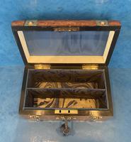 Victorian Brassbound Burr Walnut Stationary Box (10 of 11)