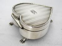 Silver Heart Shaped Jewellery Casket or Box with a Hinged Lid (3 of 7)