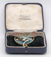 Meyle & Mayer Jugendstil Silver Dragonfly Pendant Locket, Very Rare (4 of 6)