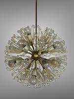 Vintage Mid Century Chandelier Sputnik Emil Stejnar Dandelion Style 16 Lights (6 of 7)