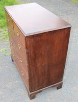 1880 Quality Oak Chest of 5 Drawers (3 of 4)