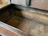 Late 18th Century Box Seated Oak Settle (12 of 19)