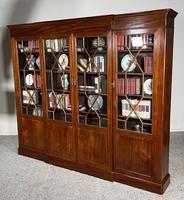Four Door Breakfront Bookcase In Mahogany-19th Century (9 of 10)