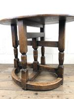 Unusual Antique Oak Oval Top Table (10 of 12)