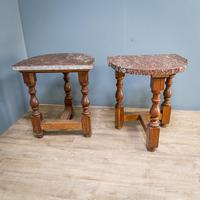 Pair of Marble Top Console Tables (8 of 10)