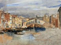Large Early 1900s Venetian Venice Landscape Watercolour Study Sketch Painting (3 of 14)