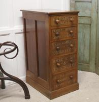 Victorian Mahogany 5 Drawer Pharmacy Chest of Drawers (3 of 7)