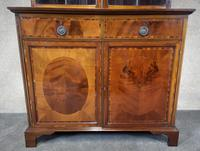 Edwardian Inlaid Mahogany Bookcase - (6 of 10)