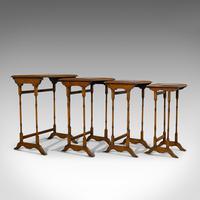 Antique Quartetto of Tables, English, Walnut, Mahogany, Nest, Edwardian, C.1910 (10 of 10)