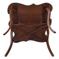 Shaped Beech Pokerwork Occasional Side Table c.1900 (6 of 6)