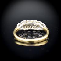 Antique Old Cut Diamond 10 Stone Double Row 18k 18ct Yellow Gold Ring (8 of 9)