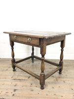 Antique Oak Side Table (m-2295) (8 of 12)