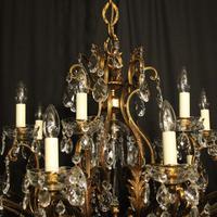 Italian Gilt & Crystal 22 Light Antique Chandelier (6 of 10)
