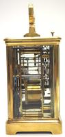 Good Antique French 8-day Repeat Carriage Clock Bevelled Case with Enamel Dial Gong Striking (10 of 15)