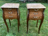 Pair of marquetry bedside tables (3 of 5)