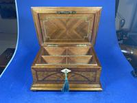 19th century French Walnut Inlaid Jewellery Box. (11 of 16)