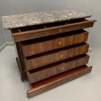 Louis Philippe Marble Top Commode (5 of 6)