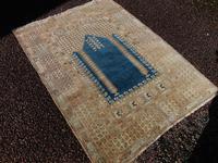 Antique turkish panderma prayer rug (6 of 6)