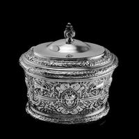 Rare Antique Solid Silver Cellini Tea Caddy Box - Mappin & Webb 1902 (11 of 28)