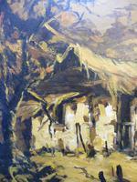 Large oil on canvas The Plantation Brazilian artist Chediac (7 of 10)