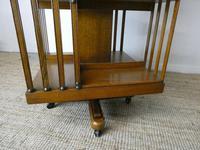 Large 19th Century Oak Revolving Bookcase (8 of 9)