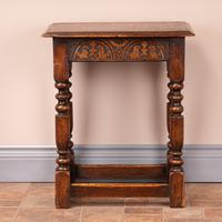 Carved Oak Joint Stool