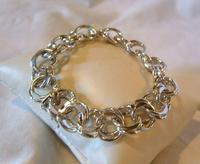 "Vintage Sterling Silver Bracelet 1950s Forstner Usa 7 1/2"" Length 38.2 Grams (5 of 11)"