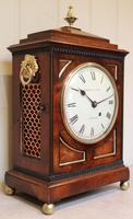 Small  Mahogany Chamfer Top Bracket Clock (2 of 10)