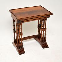 Antique Georgian Style Mahogany Nest of Tables (8 of 10)