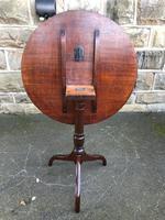 George III Mahogany Tripod Wine Table (6 of 7)