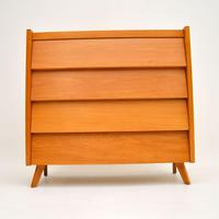1950's Vintage Satin Birch Chest of Drawers (2 of 12)