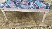 Large French Upholstered Lounge Stool c.1880 (2 of 7)