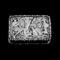 "Rare Antique Georgian Solid Silver Vinaigrette Figural Scene with Animals & Harp ""Orpheus Enchanting Animals""- Joseph Taylor 1827 (4 of 18)"