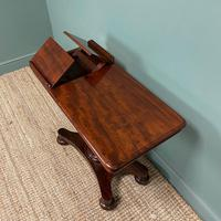Quality Victorian Mahogany Double Sided, Reading / Music Table (6 of 8)