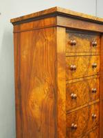 Victorian Figured and Burr Walnut Wellington Chest (2 of 11)