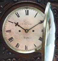 Antique English Twin Fusee Bracket Clock by Carter Cornhill London 8 Day Fusee Striking Mantel Clock (6 of 12)