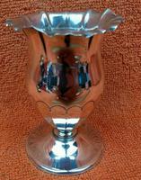 Antique Sterling Silver Hallmarked Tulip Vase 1900 Goldsmiths & Silversmiths Co Ltd 60g (2 of 9)