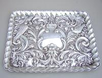 Edwardian Silver Dressing Table Tray by W. J. MYATT & CO, Chester 1905