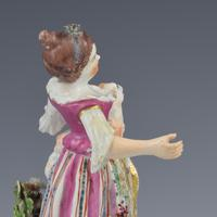 Bow Porcelain Figure Girl Shepherdess With Lamb In Apron c.1762-1764 (12 of 13)