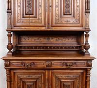 Large German Carved Walnut Bookcase Cabinet 19th Century (11 of 14)