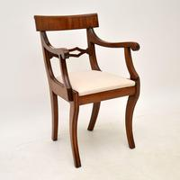 Pair of Antique Regency Period Mahogany Carver Armchairs (4 of 11)