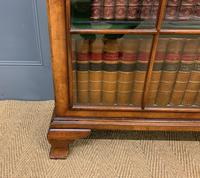Good Burr Walnut Glazed 2 Door Bookcase (10 of 15)