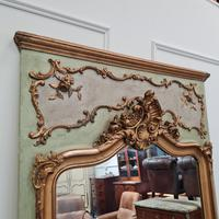 Large Antique French Trumeau Mirror c.1890 (2 of 6)