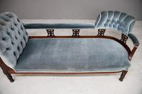 Victorian Upholstered Button Back Chaise Longue (6 of 11)