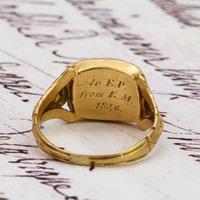 The Antique Georgian 1824 Rectangular Garnet Ring (4 of 5)