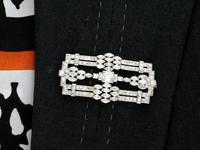 4.90ct Diamond & Platinum Brooch - Art Deco c.1925 (9 of 9)